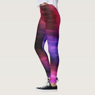 Guêtres colorées de motif de vague leggings