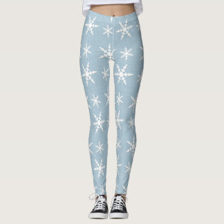 Guêtres de flocon de neige leggings