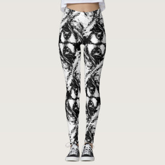 Guêtres d'impression de chiot leggings