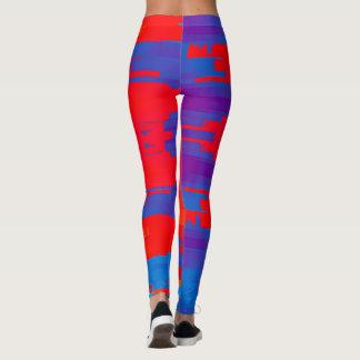 Guêtres rouges et bleues lumineuses leggings