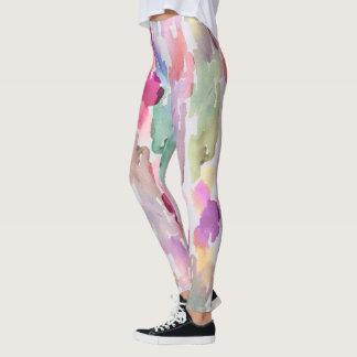 Guêtres tournées d'aquarelle de sucre leggings