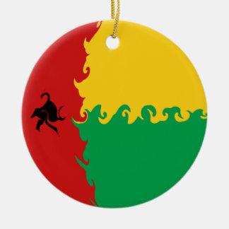 Guinea Bissau Gnarly Flag Christmas Tree Ornament