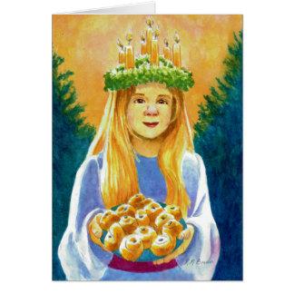 Guirlande de bougie de Sainte-Lucie Carte