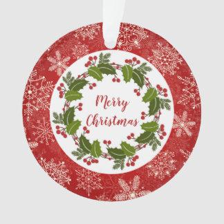 Guirlande de houx, photo de Noël de flocons de