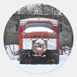 Guirlande de Noël sur des autocollants de camion