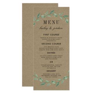 Guirlande verte et mariage rustique moderne de la carton d'invitation  10,16 cm x 23,49 cm