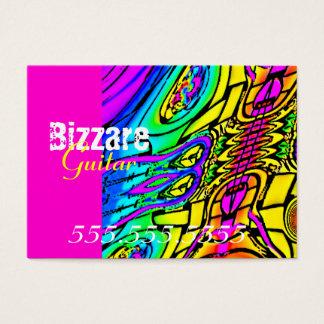 Guitare abstraite colorée cartes de visite