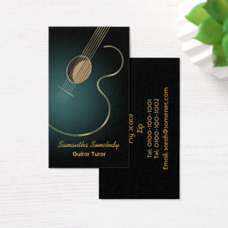 Guitare acoustique cartes de visite