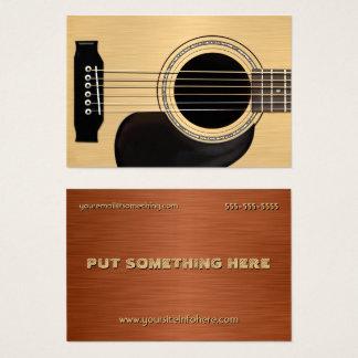 Guitare acoustique cartes de visite