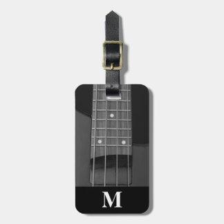 Guitare basse électrique de musique de voyage de étiquette à bagage