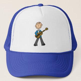Guitare jouant le chiffre casquette de bâton