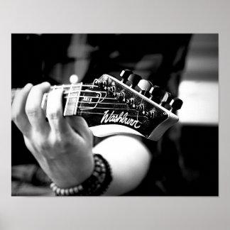 """Guitare Player14"""" x 11"""", papier d'affiche de Poster"""
