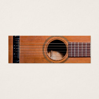 Guitare rustique mini carte de visite