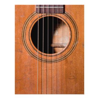 Guitare rustique prospectus 21,6 cm x 24,94 cm