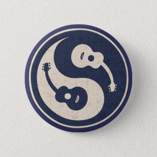 Guitare Yang - bleu Badge Rond 5 Cm