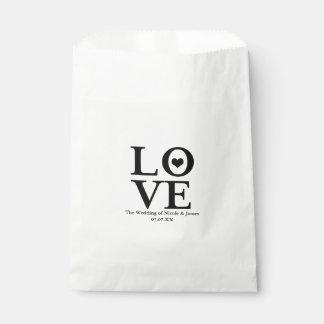 Gunst van het Huwelijk van de liefde de Elegante Bedankzakje