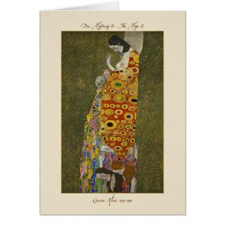 Gustav Klimt la carte 1907-1908 de l'espoir II
