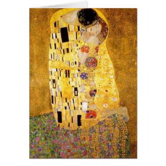 Gustav Klimt la carte de voeux de baiser