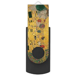 Gustav Klimt le cru de GalleryHD de baiser Clé USB 2.0 Swivel