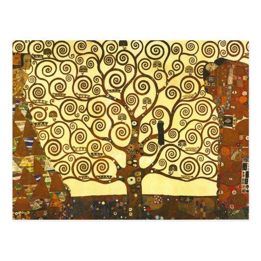 Gustav Klimt Tree van het Briefkaart van het Leven Wenskaarten