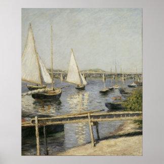 Gustave Caillebotte - bateaux à voile à Argenteuil