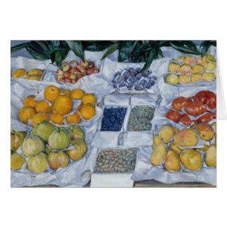 Gustave Caillebotte - fruit montré sur un support Carte