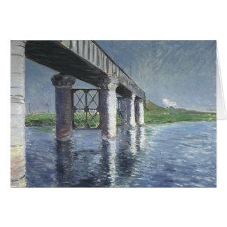 Gustave Caillebotte - la Seine et le chemin de fer Carte