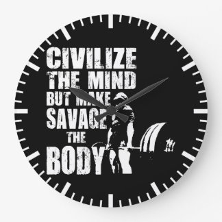 Gymnase et motivation de forme physique - faites à grande horloge ronde