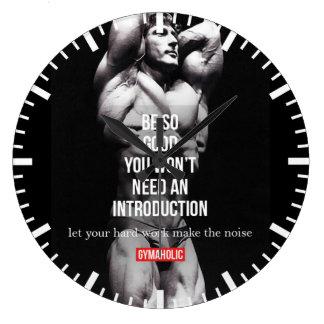 Gymnase et motivation de forme physique - grande horloge ronde