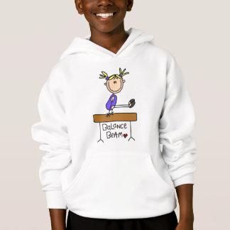 Gymnaste blonde de fille sur des T-shirts et des