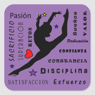 Gymnastic Sticker Gymnastique Autocollant