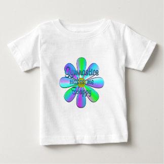 Gymnastique heureuse t-shirt pour bébé