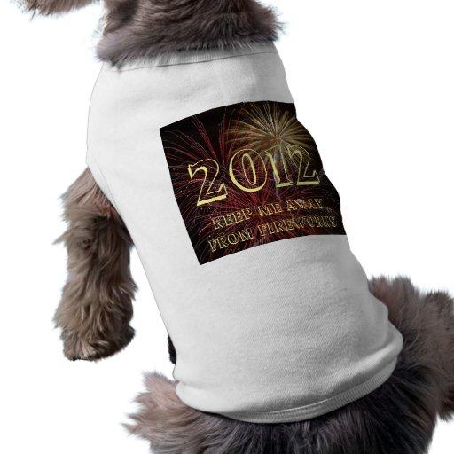 Habillement 2012 d'animal familier t-shirts pour animaux domestiques
