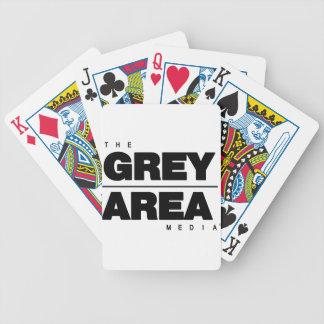 Habillement blanc noir de zone grise jeu de cartes