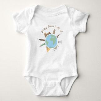 Habillement de bébé de voyage oh les endroits body