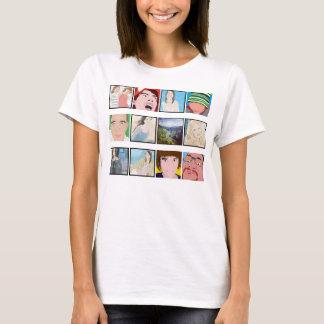 Habillement de dames personnalisé par photo de t-shirt