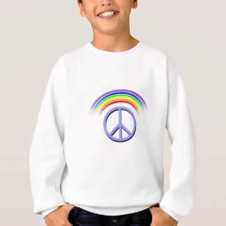 Habillement de paix d'arc-en-ciel sweatshirt