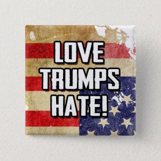 Haine d'atouts d'amour badge carré 5 cm