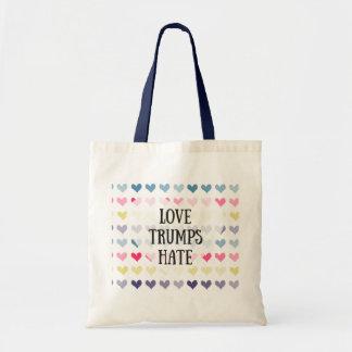 Haine d'atouts d'amour (fourre-tout) sac en toile budget