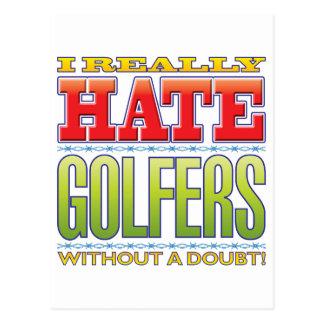Haine de golfeurs carte postale