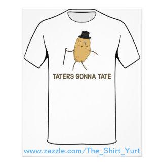 Haineux allant détester et Taters allant à Tate Prospectus 11,4 Cm X 14,2 Cm