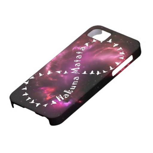Hakuna Matata voor altijd op Roze Nevel iPhone 5 Case-Mate Hoesje