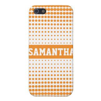 Halftone Gepersonaliseerd Stip (sinaasappel) iPhone 5 Case