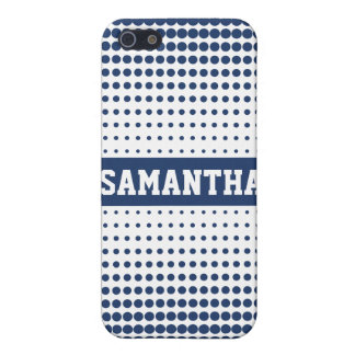 Halftone Stip Gepersonaliseerd (blauw) Hoesje iPho iPhone 5 Covers