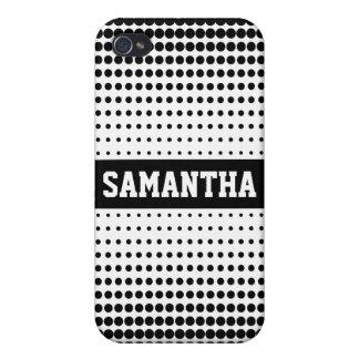 Halftone Stip Gepersonaliseerd (zwart) Hoesje iPho iPhone 4/4S Hoesjes