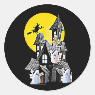 Halloween a hanté des autocollants de Chambre