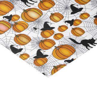 Halloween démodé avec les citrouilles oranges papier mousseline