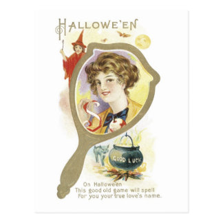 Halloween démodé carte postale