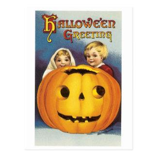 Halloween démodé, le feu follet carte postale