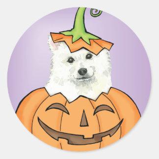 Halloween Eskie Sticker Rond